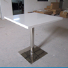 Whole sale custom stainless steel round dining table,metal restaurant table marble top