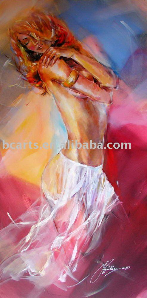 BCP10-0296 figurative women nude oil painting