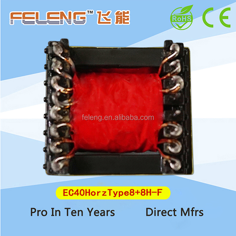 EC40 electric power transformer high frequency with ferrite core material