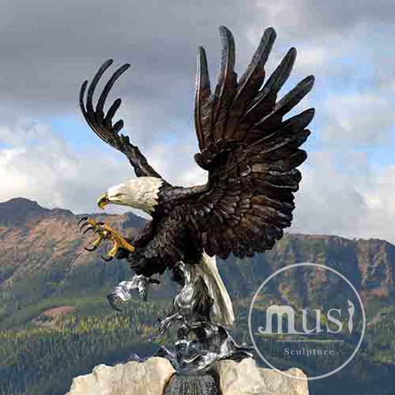 new produced home decor black eagle sculpture