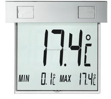 Outdoor Digital Window Thermometer With Solar Powered LCD display