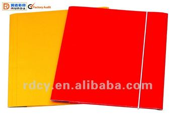 new design elastic band file folder