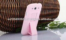Rubberized kick stand hard cell phone case for Sumsung galaxy S3 I9300