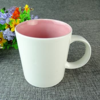2016 New Products Ceramic Porcelain White Pink Mugs Beer Bulk