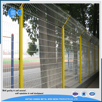 Cheap folded 3d white pvc coated welded wire mesh fence