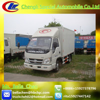 2-4 tons FOTON cheap box trucks, diesel cargo van for sale