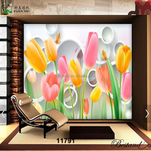 Custom 3D HD wallpaper waterproof material for home decoration