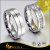 Men Titanium Stainless Steel Promise Engagement Couple Wedding Bands for Him and Her Women Cubic Zirconia CZ Rings