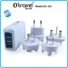 4 PORTS INTERNATIONAL USB CHARGER 1 x QC 3.0 Port, 2 x Smart Charging Ports, 1 x Type C USB Port max up to 25W Output