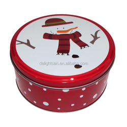 Round Christmas Cookie food tin packaging box