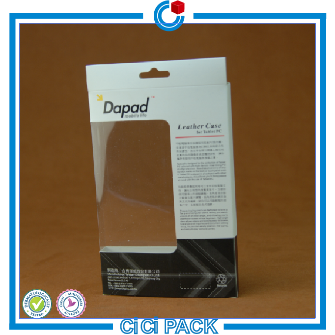 Transparent printed pvc plastic packaging for iphone 6 cases