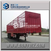 Tri Axle Fence Livestock Trailers For