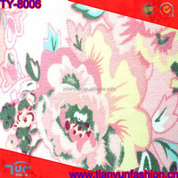 fancy flower design cotton and elastane fabric for garments