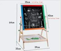 wooden adjustable chalkboard easel child,kids paint easel, pine wood kids easel