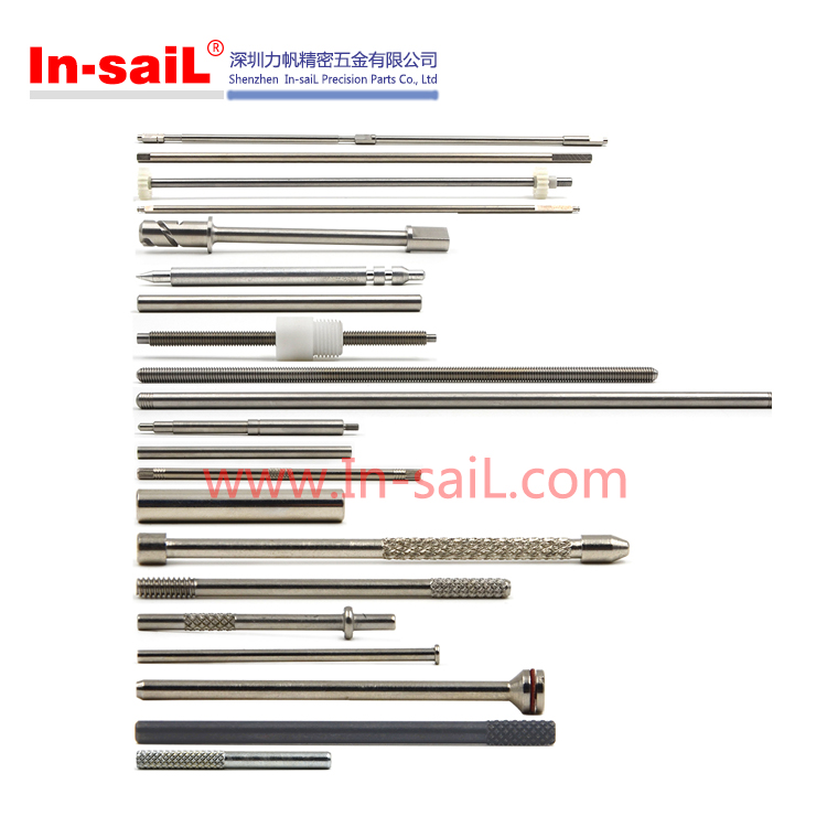 OEM service customized machining stainless steel round knurled threaded dowel pins