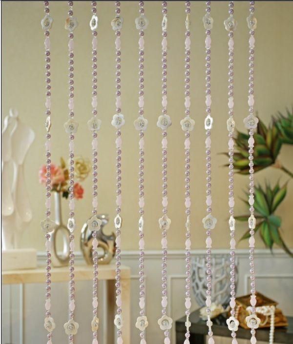 Decorative Roller Blinds Chain Beads Window Curtains