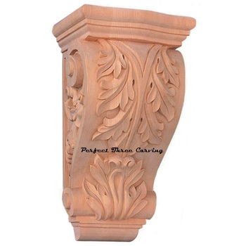 Classic Wood Carved Acanthus Cabinet Corbel PT5004-PT5006