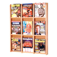 Small order quantity accepted customized wood wall mount magazine shelf