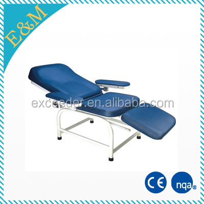 3 section manual blood donor couch phlebotomy/ blood drawing chair for sale