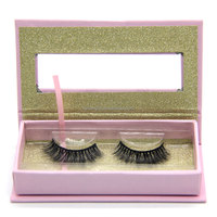 2017 new design 3D eyelashes slik with private label package
