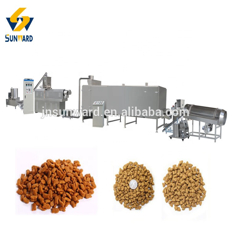 mini dog food / cat feed extruder making machine Double color dog food production machines