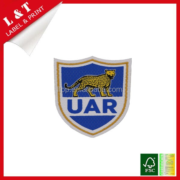 Eco-friendly bull design embroidery patches, sports garment badge