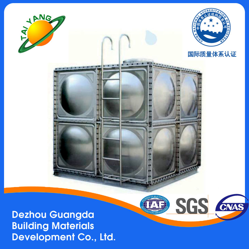 Guangda modular durable strong stainless steel water tank