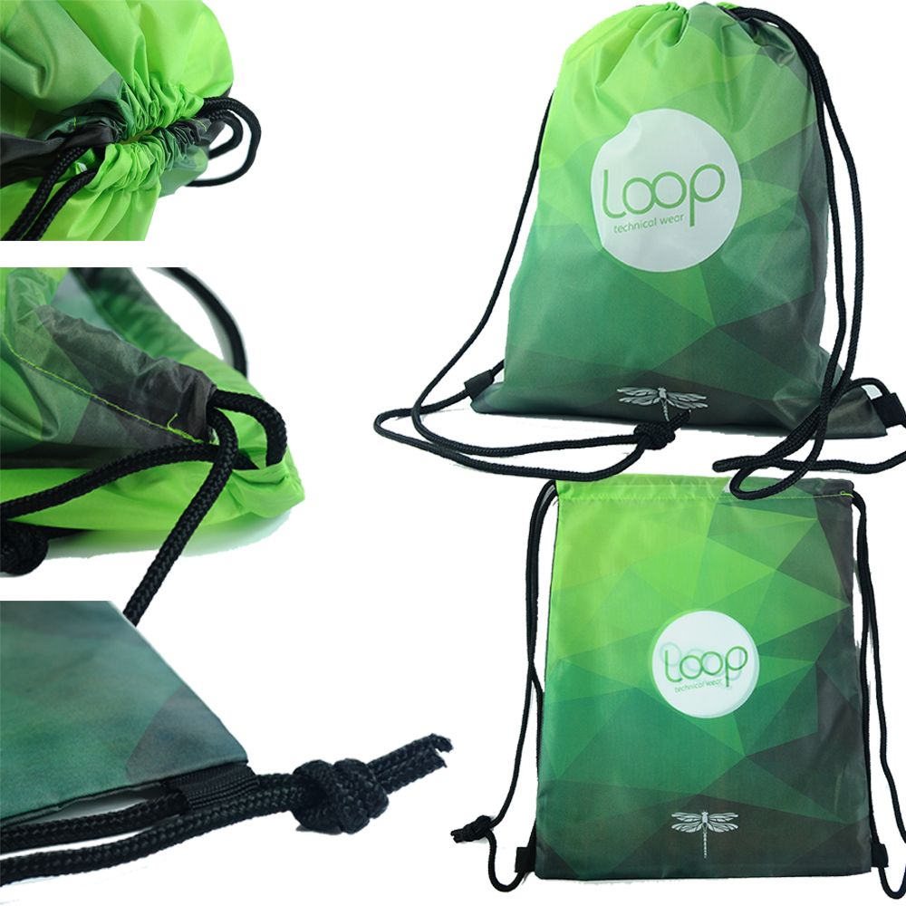 Sports Cheap Polyester Drawstring Bag for Shoe or Toiletry