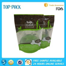 Pet Food Stand Up Bag With Zip Lock And Window