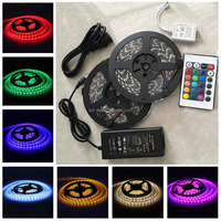 1-20M RGB 5050 SMD waterproof 300 LED Light Strip Flexible + IR Remote 12V power