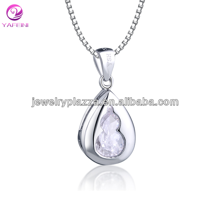 Good quality factory wholesale sterling silver jewelry pendant with big stone