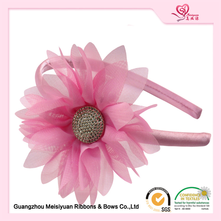 Girls hair accessories / fashion chiffon daisy flower headband for girls
