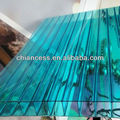 Transparent Green Twin wall Polycarbonate Hollow Sheet for roofing plate