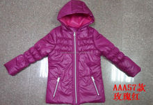 winter season Teens children girls jacket with hoodies