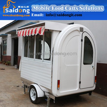 snack machine food cart/trailer/van/kiosk/mobile BBQ food trucks for sale