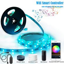 Wifi Wireless Smart Phone Controlled Waterproof 5050 <strong>RGB</strong>+CCT changing work alexa amazon and google assistant