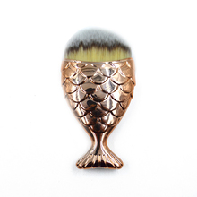 Promation Fish Scale Mermaid Foundation Make up <strong>Brushes</strong> Colorful Mermaid Makeup <strong>Brush</strong>
