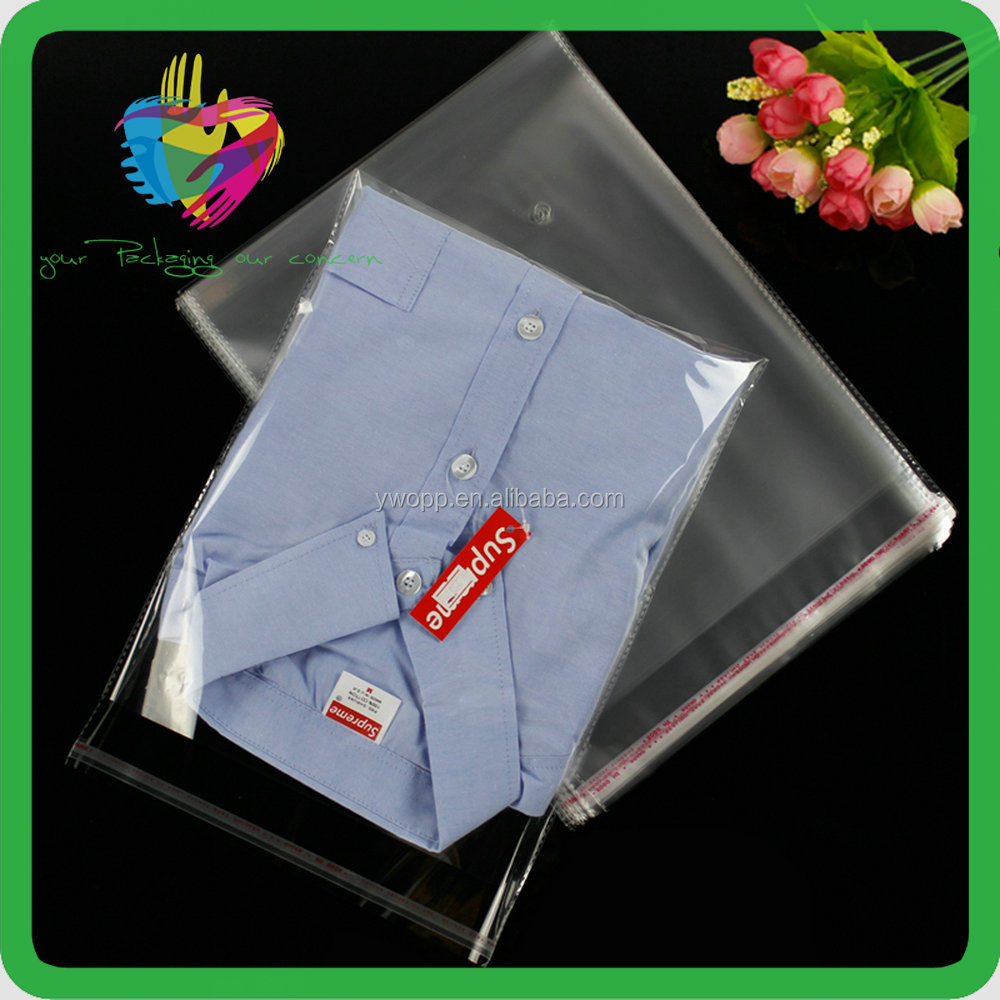 Plastic Clear Shirt/clothes Packing Poly Self Adhesive Bag For Apparel/clothing Factory/stores/