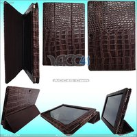 Brown Hight Lighting PU Like Crocodile Skin Leather Case for ASUS Eee Pad TF101 ASUSEPADCASE004