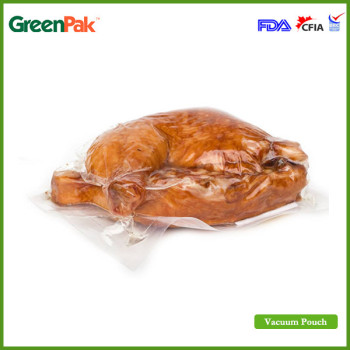 GreenPak 90um clear sealer vacuum pouches for poultry packaging