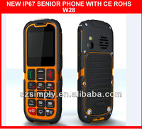 IP67 waterproof outdoor dual sim cell phone with SOS button .GPRS