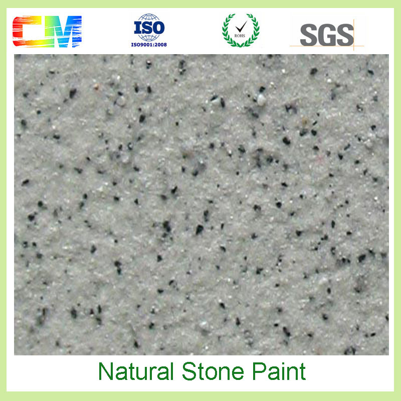 Outside wall natural texture effect spray stone coating for buiding keep long life