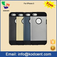 Free sample tpu + pc back cover slim armor bulk case for iphone 5 , case for iphone 5s