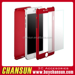 Wholesale China 360 degree Hybrid hard pc ultra thin case with tempered glass for iphone 6