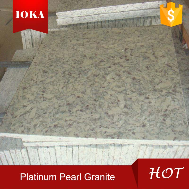 Honed Finish Platinum Pearl Granite Tile On Sale