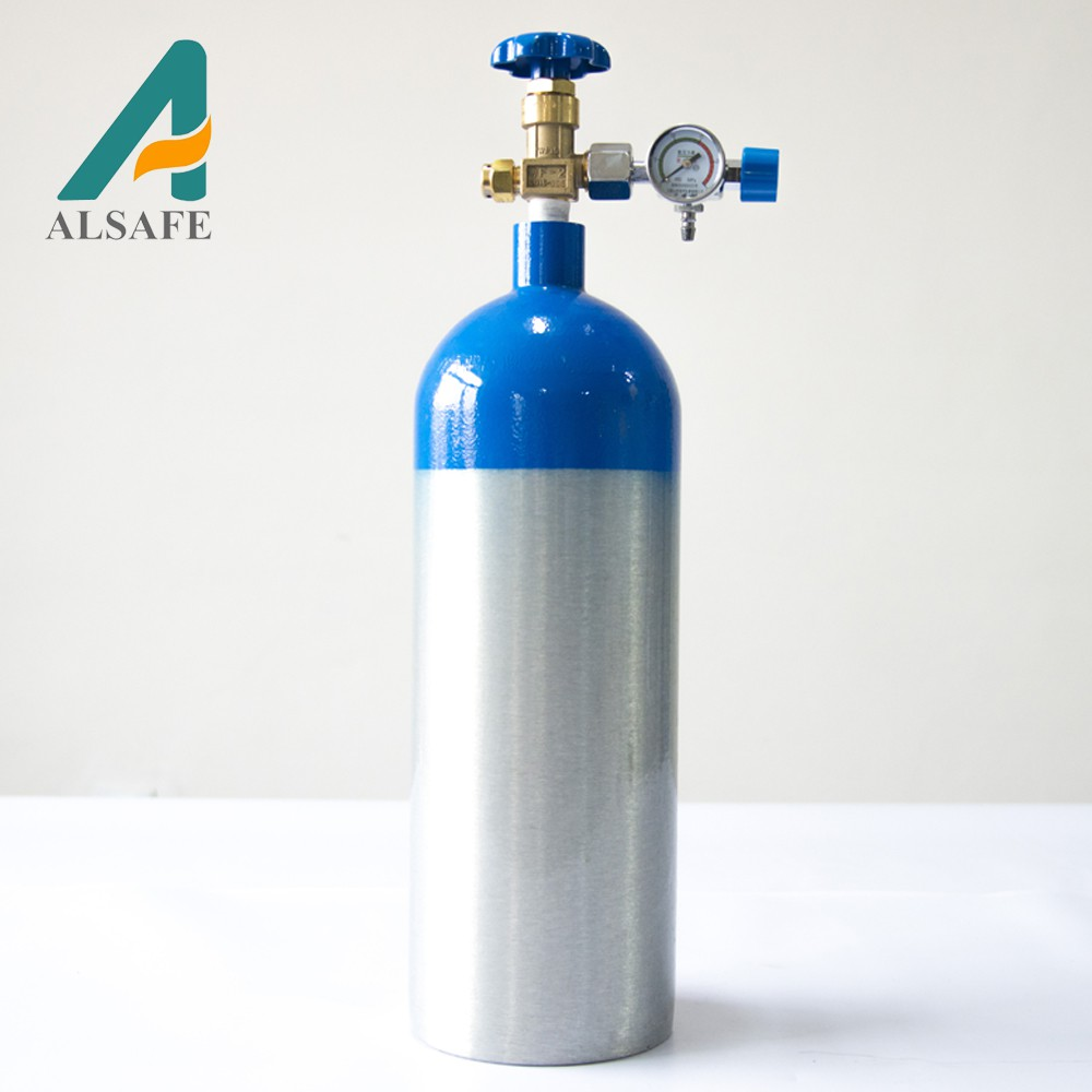 ALSAFE 150bar aluminum 2L medical Oxygen gas <strong>cylinder</strong>