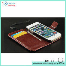 2016 Hot Selling Vintage Folio Foldable Detachable Wallet Leather Case For Iphone 5 For Ipone5 Plus 4.7inch