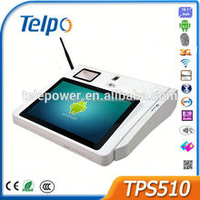 2016 New Product 10 inch Touch Screen POS mobile keys smart card reader pos TPS510