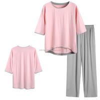 lounging sleeping clothing apparel garment online shop roomy fit Bamboo Pajamas Set indian latest nighty designs for women