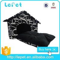 Custom logo low MOQ soft warm cozy pp Cotton foldable dog pet bed pet house